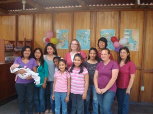 Myself with my students, ther moms, and the 3 IBYM girls who helped me this year.