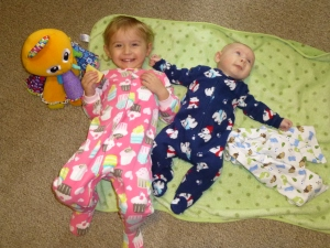 My kids this morning. Joseph is getting so big!