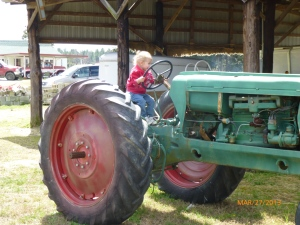 She loved the tractor!