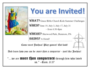The official invite to the summer program