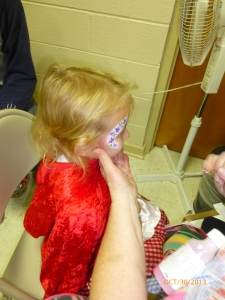 "Face Painting was a big hit (that's our ""Little Red Riding Hood"" who, 3 days later, still has the remnants of those flowers on her face)"