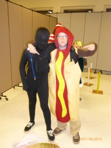 "We had a costume contest ~ the hot dog won 1st for ""funniest."""
