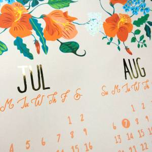 original_floral-summer-calendar-print-with-copper-foil-detail